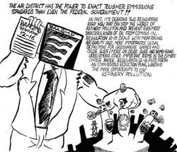 Hauge cartoon of BAAQMD