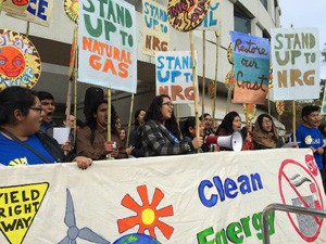 Students from Oxnard protest at CPUC