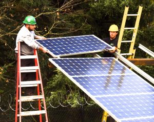 installing solar panels - OR Dept of Transp