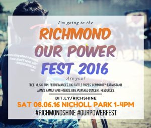 our power 2016 poster
