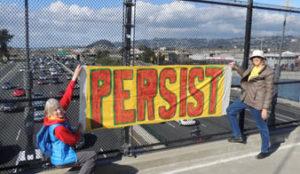A Banner Approach to Resistance @ Berkeley I-80 Pedestrian Bridge | Berkeley | California | United States