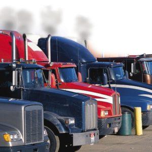 trucks idling