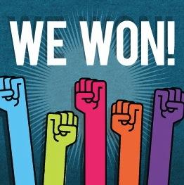 we won!