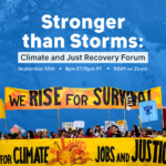 Frontline Community Leaders: Climate and Just Recovery, September 30