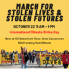 March for Stolen Lives/Stolen Futures, October 22