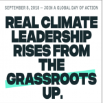 September Schedule of People's Climate Actions, Sept 2 – 14