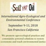 Soil Not Oil Conference, Sept 9-11