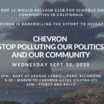 "Protest Chevron $ to Defeat ""Schools and Communities First,"" September 30"